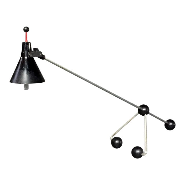 Italian Ball-Base Adjustable Desk Lamp, 1980s For Sale
