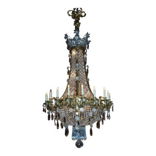 Antique Chandelier Baccarat Basket Style Chandelier For Sale