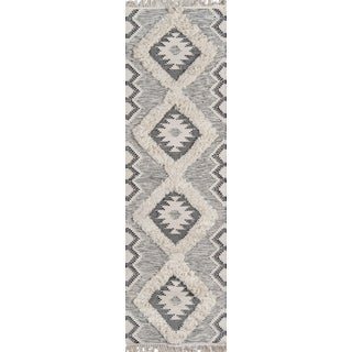 Novogratz by Momeni Indio Sierra in Black Rug - 2'X8' Runner For Sale