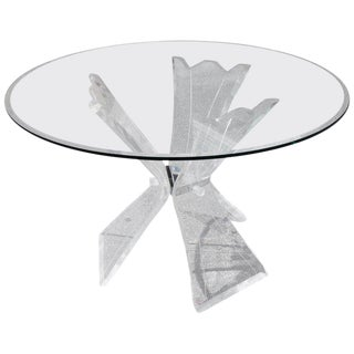 Mid-Century Modern Triple Butterfly Lucite Dining Table or Centre Table. For Sale