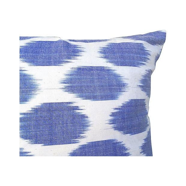 Silk Indigo Dot Pillow - Image 2 of 3