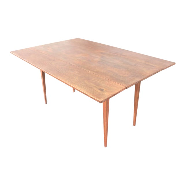 19th Century Original Salmon Painted Farm Table For Sale
