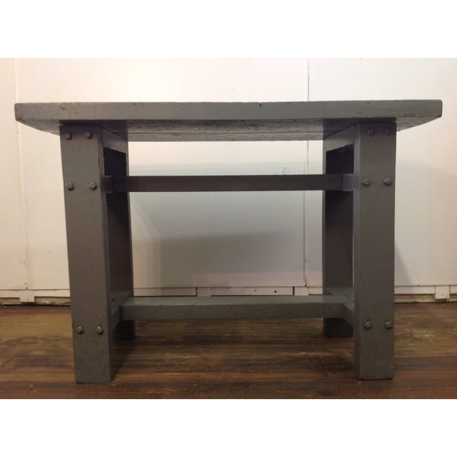 Primitive Industrial Gray Potting Table - Image 5 of 10