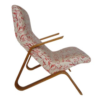 Eero Saarinen Grasshopper Chair With Vintage Knoll Fabric For Sale