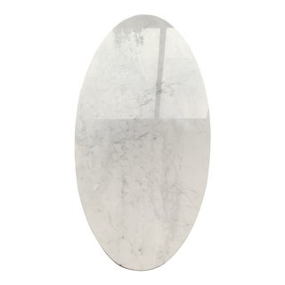 Contemporary Room and Board Venatino Marble Oval Coffee Table For Sale