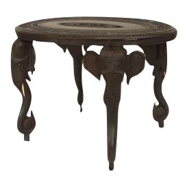 Asian Burmese Style Ebony Low Center Table