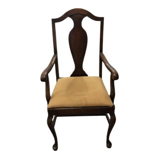 Antique Brown Walnut Chair For Sale
