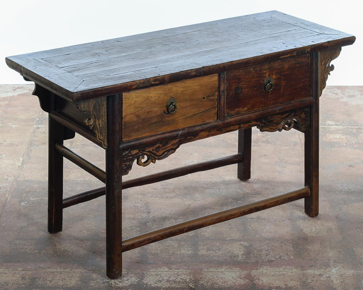 Chinese Antique Wooden Altar Table With Drawers In Excellent Condition.  Please Check All The Photos
