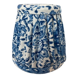 Heath & Company Blue Floral Chandelier Shade For Sale
