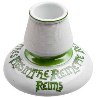 Vintage Reinette Absinthe French Porcelain Match Striker For Sale