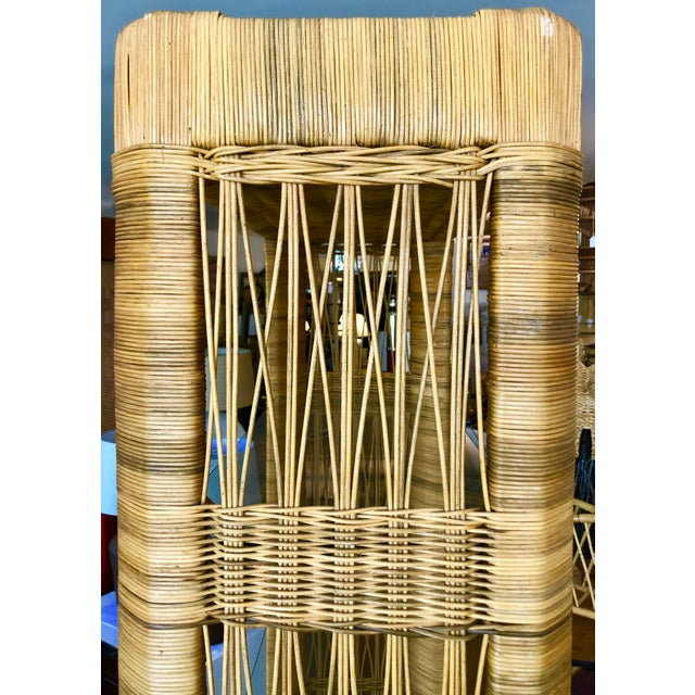 Pair Rattan Etageres From 70's For Sale In Miami - Image 6 of 10