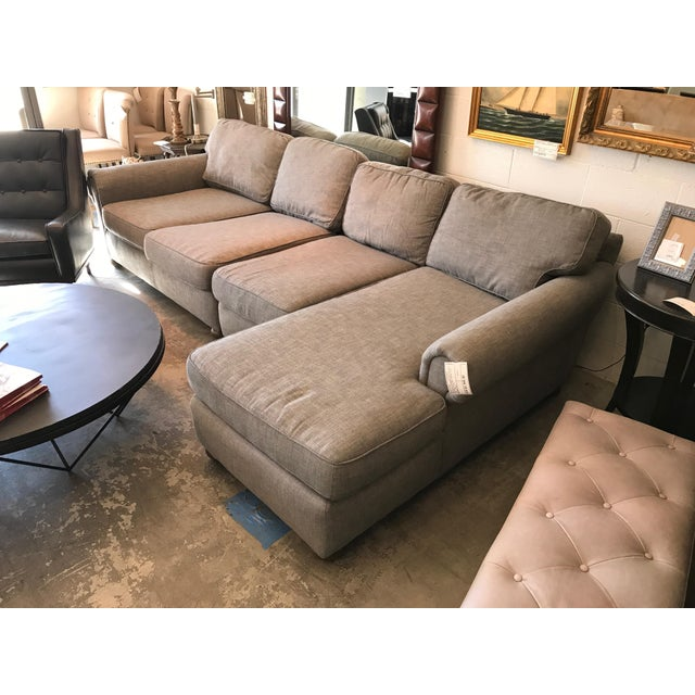Restoration Hardware Gray Lancaster Sectional Sofa - Image 3 of 4