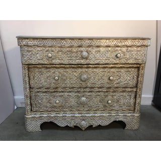 20th Century Moroccan White Syrian Wedding Chest of Drawers Preview