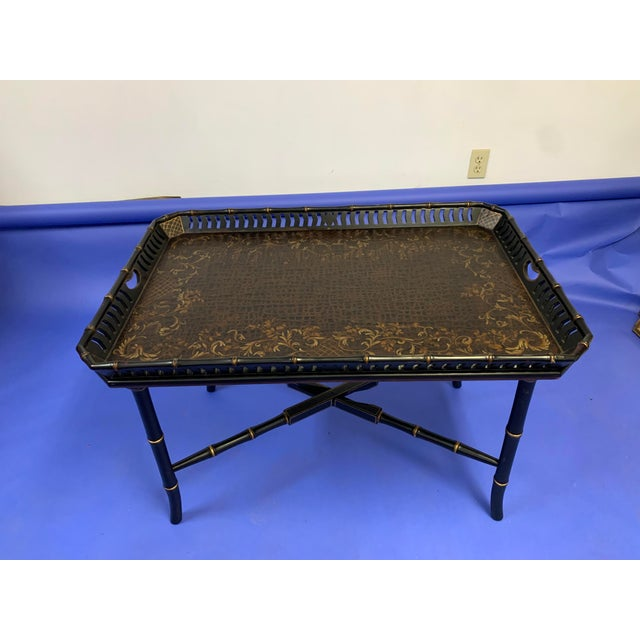 Chinoiserie Folding / Coffee Tray Table For Sale - Image 6 of 7