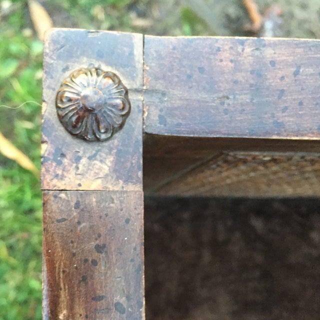 Vintage Mink Velvet Hollywood Regency Cane Bench - Image 9 of 11