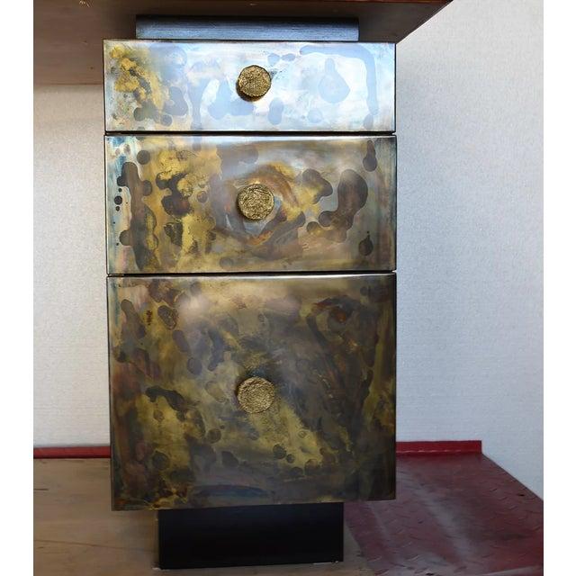 Timeless Mid Century Modern Studio Brass Desk For Sale - Image 10 of 13