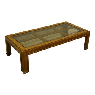 "Campaign Drexel Heritage Accolade Collection Style 60"" Coffee Table For Sale"