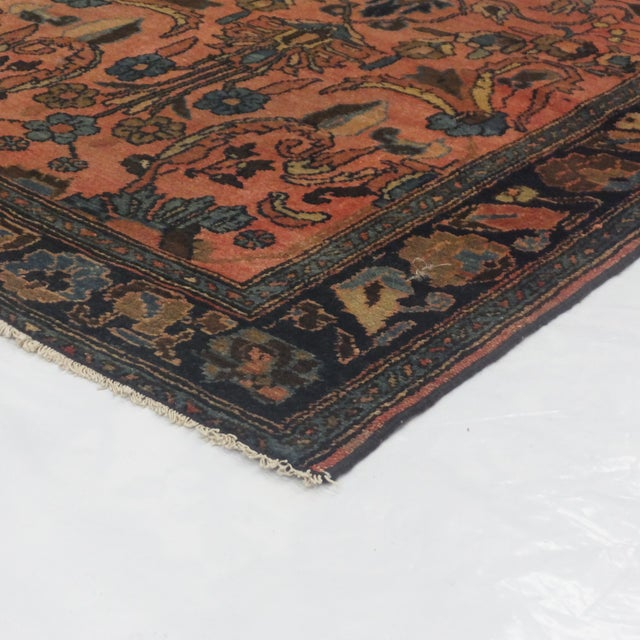 """Antique Persian Lillihan Wool Rug - 6'6"""" x 3'6"""" For Sale - Image 4 of 4"""