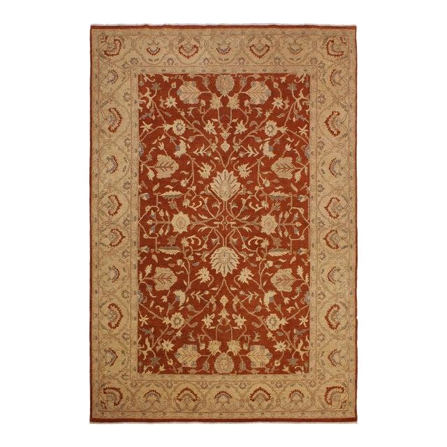 Kafkaz Peshawar Barbar Rust/Gold Wool Rug -8'11 X 12'9 For Sale