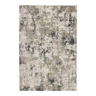 """Jaipur Living Lynne Abstract White Gray Area Rug 5'X7'6"""" For Sale"""