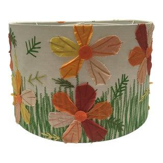 Textile Applique Flower Lamp Shade