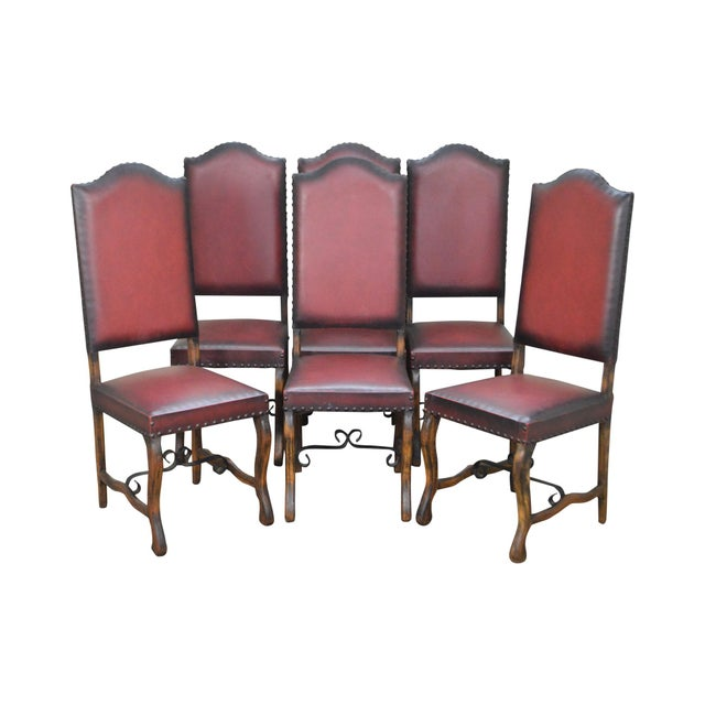 Spanish Renaissance Revival Style Walnut Dining Chairs - Set of 6 For Sale - Image 13 of 13