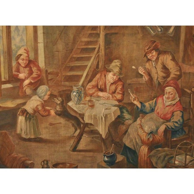 This tall, painted canvas was crafted in France, circa 1870 and was originally from an inside room panelling. The antique...