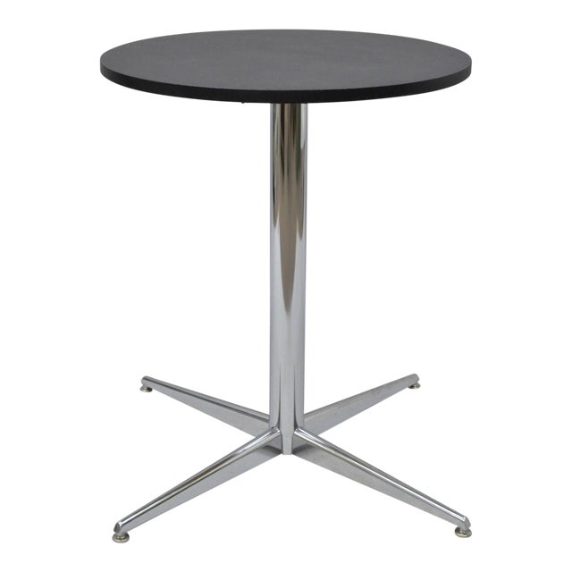 Vintage MidCentury Modern Chrome Round Pedestal Base Star Dining - Mid century pedestal dining table