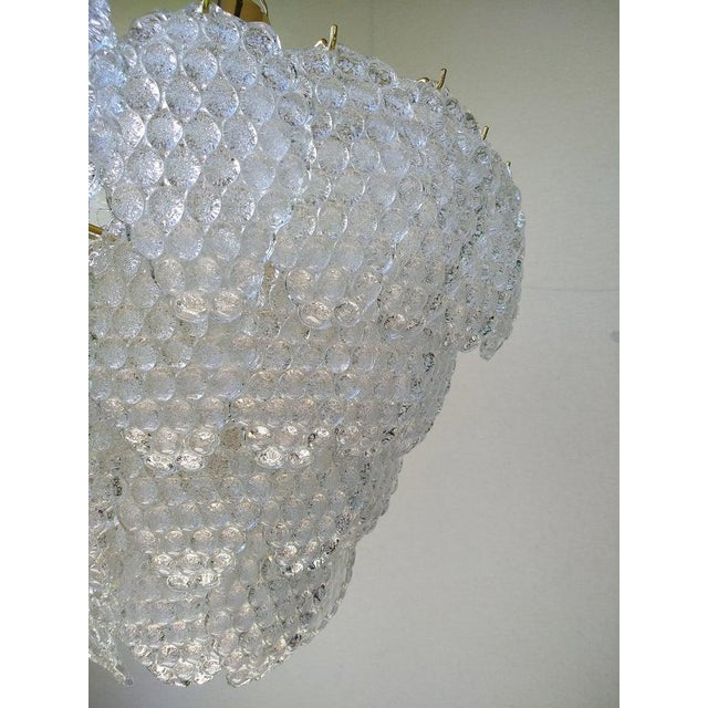 Mid-Century Modern Vintage Murano Glass Ball Room Chandelier For Sale - Image 3 of 12