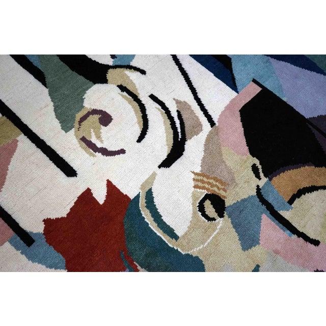 Red Boccara Artistic Rug – Albert Gleizes – Design N.39 For Sale - Image 8 of 9