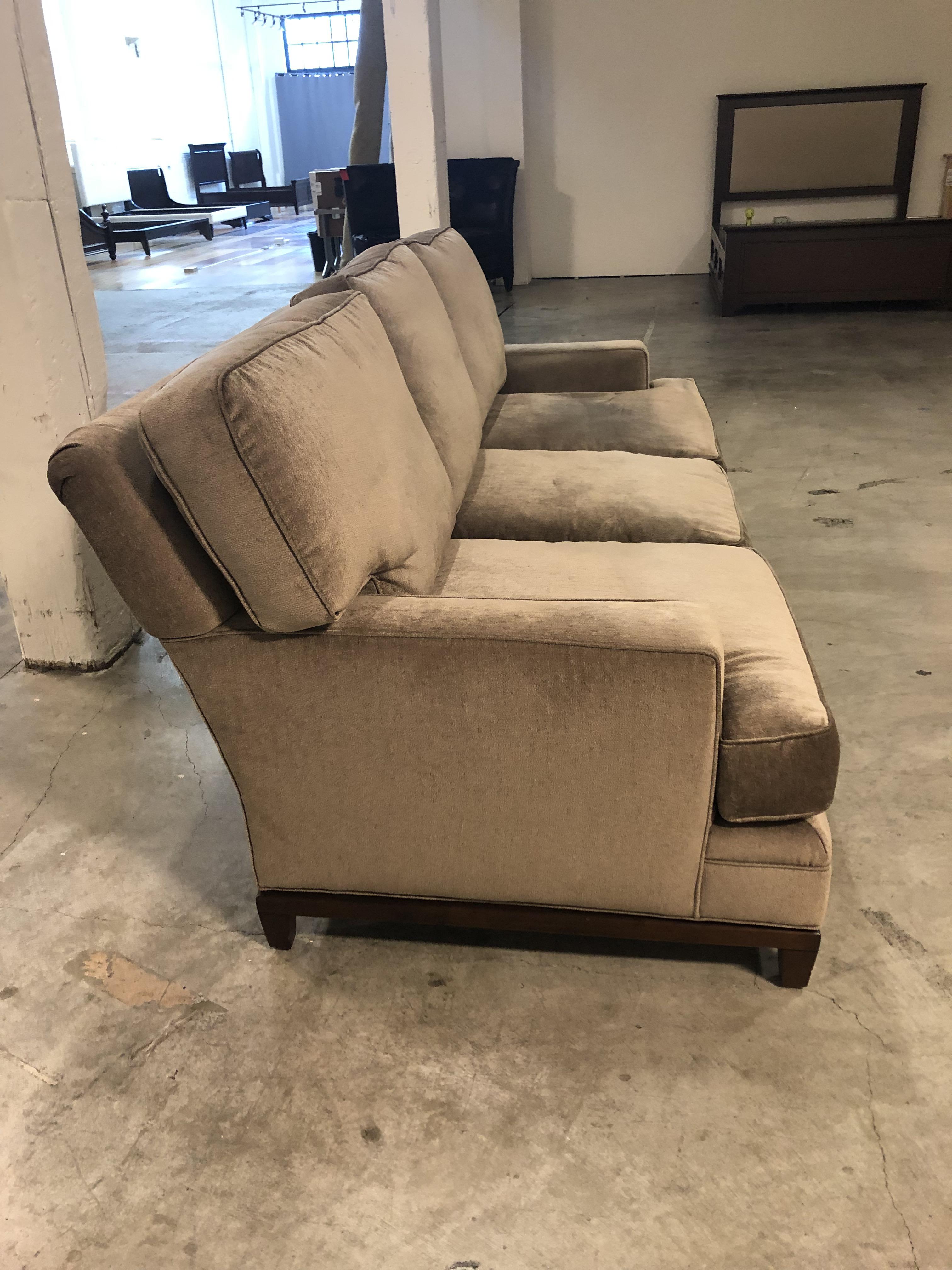 Kravet Allegro Loose Back Cushion Sofa + Calvin Klein Fabric