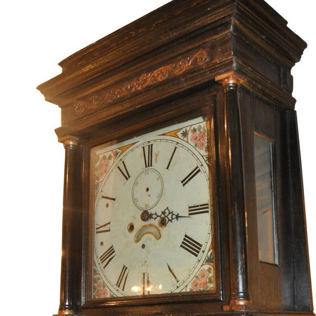 Asian 19th Century English Chinoiserie Case Clock For Sale - Image 3 of 5