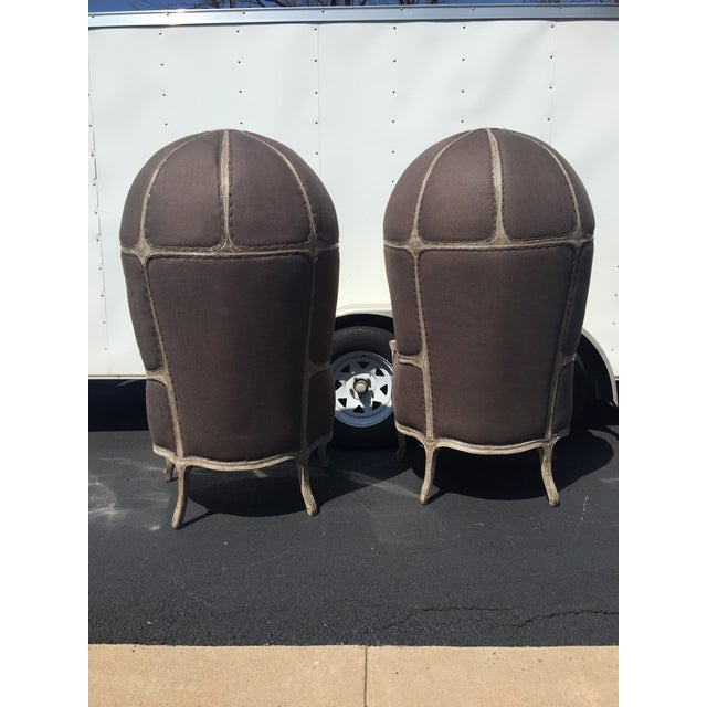 Restoration Hardware Restoration Hardware Versailles Dome Chairs - Pair For Sale - Image 4 of 6