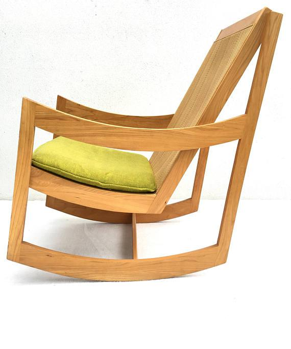 Mid Century Modern Rocking Chair Ralph Rapson Style   Chairish