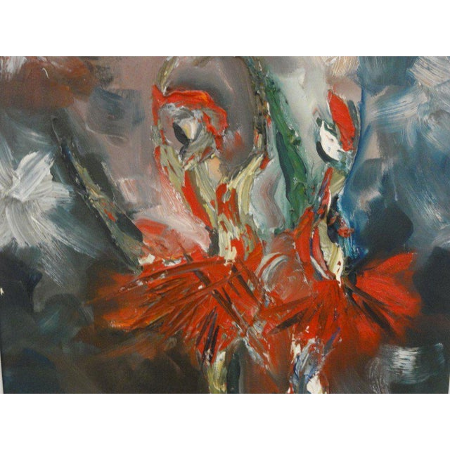 Mid Century Ballerina Abstract Painting - Image 6 of 10