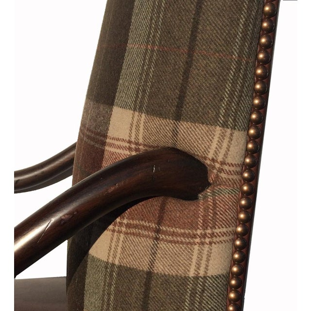 New Pair Country Arm Chairs Ralph Lauren Plaid - Image 5 of 9