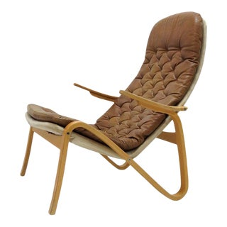 """""""Metro"""" Leather Lounge Chair by Sam Larsson for Dux For Sale"""