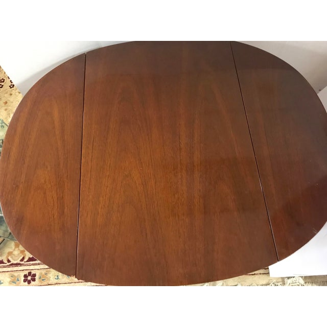 Mahogany 20th Century Federal Hickory Chair Mahogany Inlay Drop Leaf End Tables - a Pair For Sale - Image 7 of 10