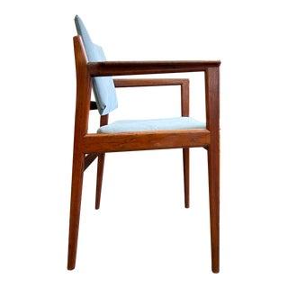 Mid Century Modern Danish Teak Accent Chair For Sale