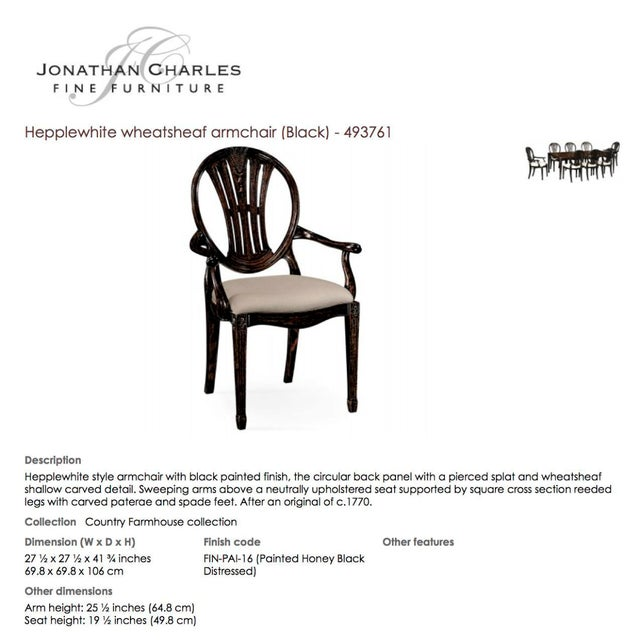 Jonathan Charles Hepplewhite Wheatsheaf Arm Chair - Image 5 of 5