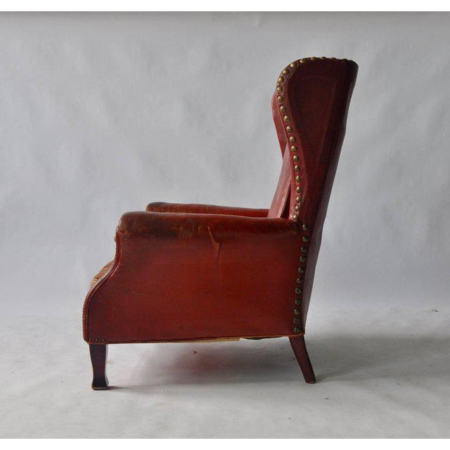 Otto Schultz Leather Lounge Chair by Otto Schulz For Sale - Image 4 of 8