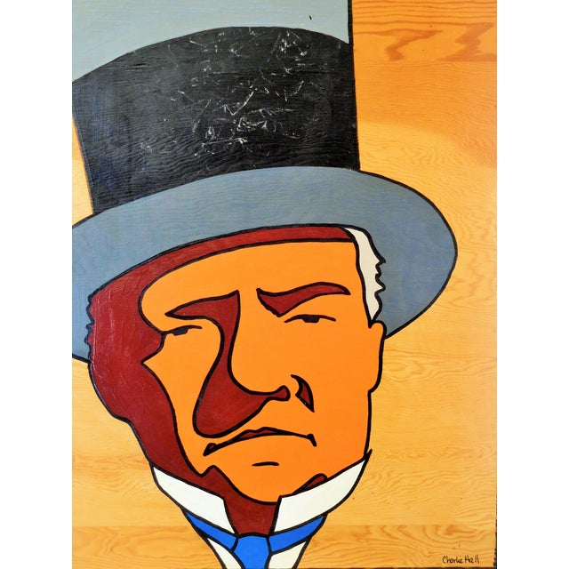 Charles Hall Large WC Fields Pop Art Painting - Image 5 of 6