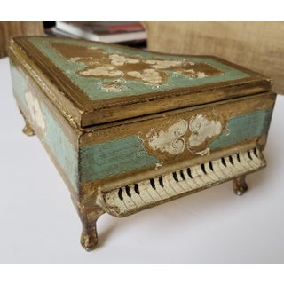 Green and Gold Florentine Piano Jewelry Box Preview