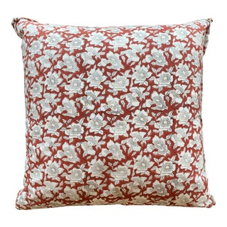 Hand Block Printed Pillow For Sale