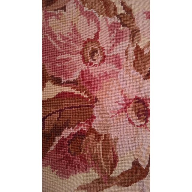 Floral Aubusson Wool Rug - 7′12″ × 9′10″ - Image 2 of 8