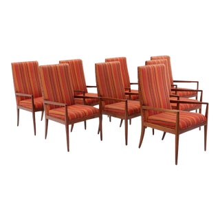 Set of Eight Dining Chairs with Arms Designed by Jules Heumann for Metropolitan For Sale