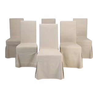 Slip-Cover Chairs - Set of 6 For Sale