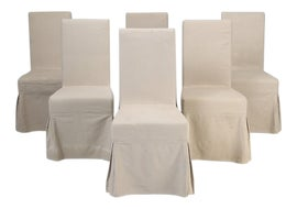 Image of Antique White Dining Chairs