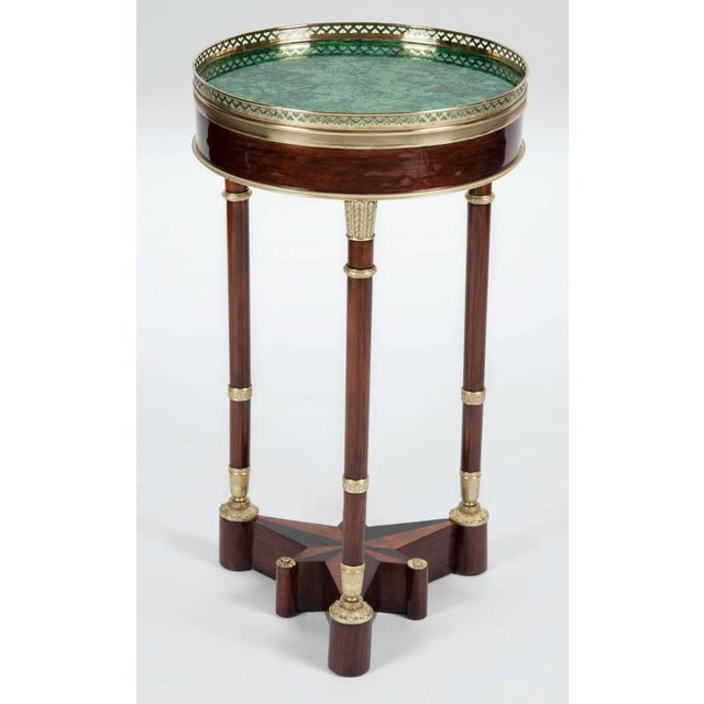Russian Neoclassical Mahogany, Malachite and Ormolu-Mounted Gueridon For Sale - Image 9 of 9