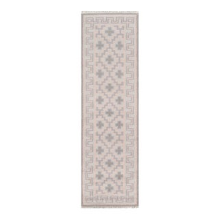 """Erin Gates by Momeni Thompson Brookline Pink Runner Hand Woven Wool Area Rug - 2'3"""" X 8' For Sale"""